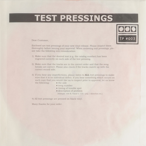 demdike test pressings